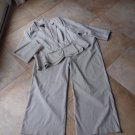 Lane Bryant Khaki Plaid Peplum Blazer and  Pant Suit 22