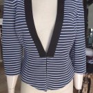 WHITE HOUSE BLACK MARKET Striped Jacket Blazer 10