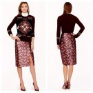 J CREW Collection pencil skirt in metallic marigold print Pencil Skirt 6