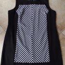 VOIR VOIR Black/White Striped Sleeveless Sheath Dress 24W