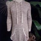 HARD TAIL Striped Hooded Tunic Sweater XS