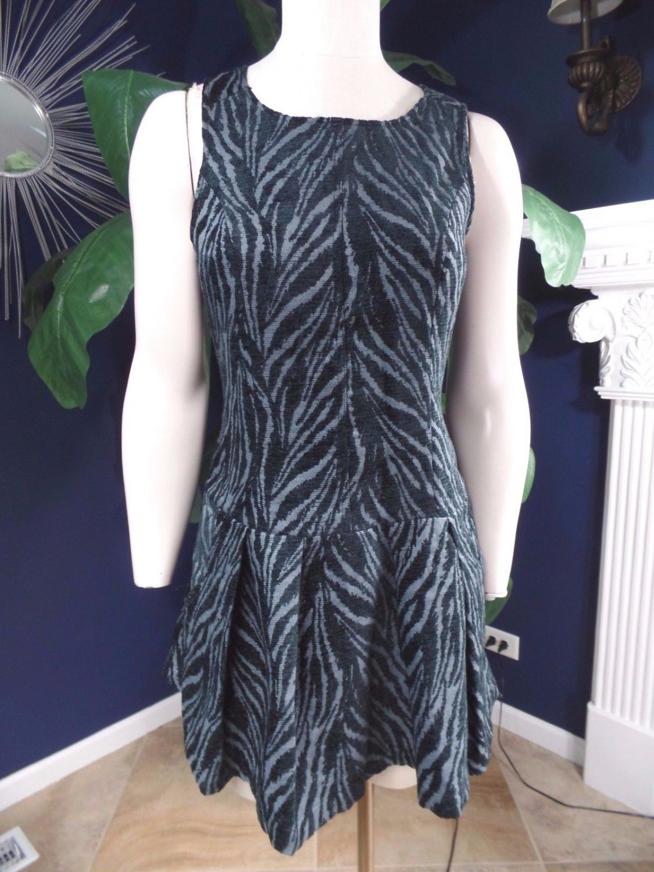 NWT FREE PEOPLE Sleeveless Zebra Print Drop Waist Shift Dress 4