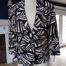 NWT COLDWATER CREEK Printed Linen Blend  Jacket Blazer 16