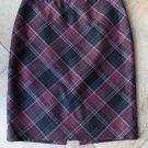 WHITE HOUSE BLACK MARKET Plaid Straight Pencil Skirt 2