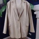 NWT Denim & Co. Khaki 100% Cotton Twill Classic  Blazer Jacket 3X
