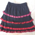 NWT ANTHROPOLOGIE SPARROW Black Ruffled A Line Sweater Skirt  XS