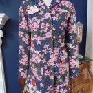 Tara Jarmon For Target Floral Cotton Button Front Jacket Coat, S