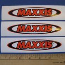 3 MAXXIS Tire MOTO BMX BIKE BICYCLE FRAME STICKER DECAL