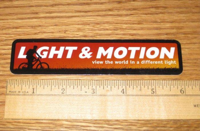 LIGHT & MOTION Road Mountain Bike TRI -- DECAL STICKER