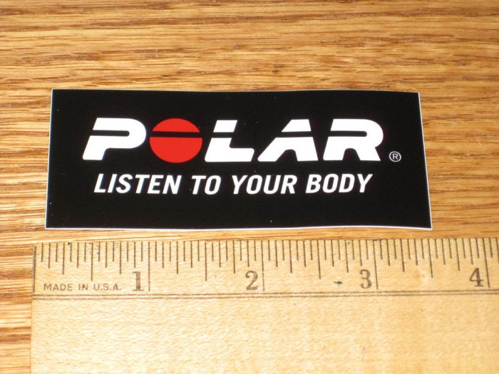 POLAR HEART RATE BIKE Road Mountain Tri STICKER DECAL