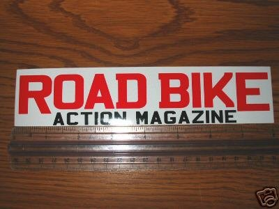 ROAD BIKE ACTION MAGAZINE FRAME  BICYCLE STICKER DECAL