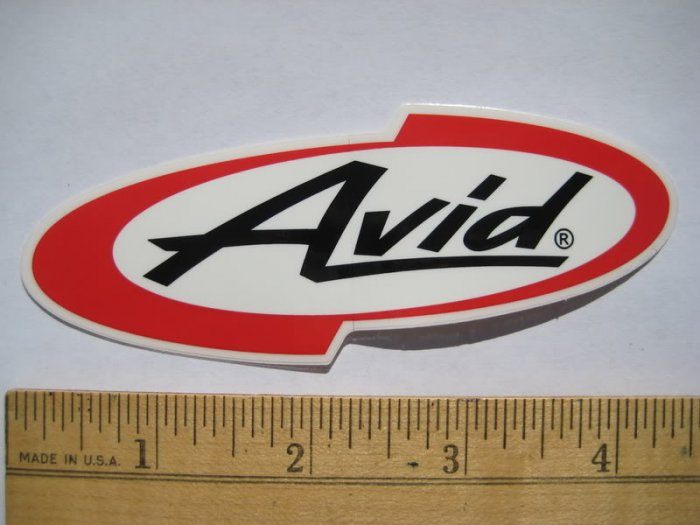 AVID BIKE MTB Road Race BICYCLE PARTS STICKER DECAL