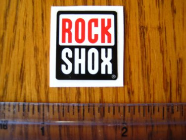 ROCK SHOX Mountain Bike Bikes Fork Shox Red/Black STICKER DECAL - Free Shipping