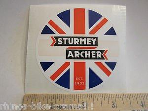 "3"" STURMEY ARCHER Cruiser Shifter UK Road MTB  Bike Ride FRAME STICKER DECAL"