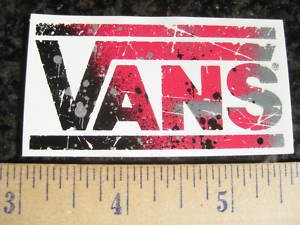 VANS Shoes BMX Jump MTB Race Bike Ride STICKER DECAL