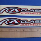 2 ALEX A-CLASS RIM BIKE BICYCLE FRAME -- STICKER DECAL - Free USA Shipping
