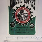 "4"" KINETIC KOFFEE Coffee Mountain Road Race Bicycle Car BIKE FRAME STICKER DECAL"