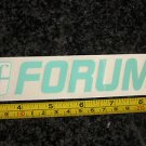 "6"" FORUM White/Blue Ski Snowboard Race Rack Ride DECAL STICKER - FREE SHIPPING"