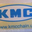 "2"" x 1"" KMC Blue w. white Bike Bar Bicycle Frame MTB Toolbox  Rack DECAL STICKER"