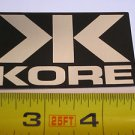 "3"" KORE Silver/Black Ride Road Mountain Bicycle Bike Car Frame Sticker Decal"