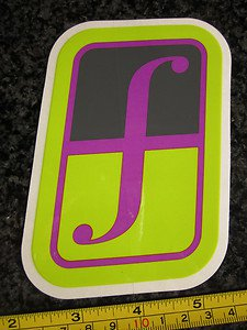 "5"" FORUM Green/Purple Ski Snowboard Race Rack Ride DECAL STICKER - FREE SHIPPING"