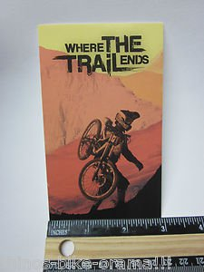 "5"" WHERE THE TRAIL ENDS  MTB  Bike Frame dvd Bicycle DECAL STICKER Free Shipping"