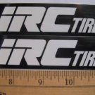 2 IRC TIRE Bicycle Mountain BIKE FRAME  STICKER DECAL