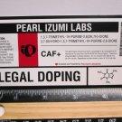 "5"" PEARL IZUMI Legal DOPING Bicycle Sticker (Mountain Road Tri Frame Bike Decal)"
