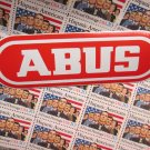 "one - 6"" ABUS Lock Street Road Tri MTB Mountain Bike Frame Bicycle DECAL STICKER"