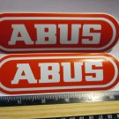 "TWO - 6"" ABUS Lock Street Road Tri MTB Mountain Bike Frame Bicycle DECAL STICKER"