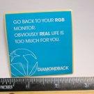 "2.25"" DIAMONDBACK Blue Life (BMX Road Tri MTB Mountain Bike Frame) Sticker Decal"