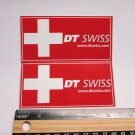 "TWO 3.5"" DT SWISS Rim Hub (Dirt MX RIDE BMX DH MX MTB Frame Bike) DECAL STICKER"
