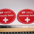 "TWO 3"" DT SWISS Rim Hub (Dirt MX RIDE BMX DH MX MTB Frame Bike) DECAL STICKER"