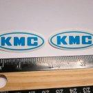 """2  1.5"""" KMC Chain Road Ride MX TRI MTB RIDE DH Mountain Frame Bike DECAL STICKER"""