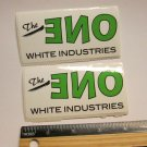 TWO The One White Industries MTB Road Tri TRAIL Ride Frame Bicycle DECAL STICKER
