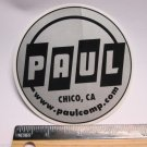 "4"" PAUL Comp Chico CA  (RIDE DH MX MTB Mountain Road Frame Bike) DECAL STICKER"