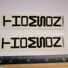 "TWO - 4"" THOMSON Black Tall Bicycle Sticker (Mountain Road Tri Frame Bike Decal)"