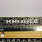 "4"" BRODIE FAT TIRE  Mountain Bike Bicycle Frame MTB Truck Rack DECAL STICKER ma1"