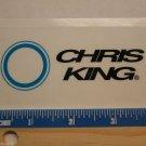 "4"" CHRIS KING Trail Dirt MX RIDE DH MX MTB Frame Bike DECAL STICKER RBZ"