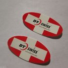 """TWO- 1.5"""" DT SWISS OVAL  Bike Mountain Bicycle Ride STICKER DECAL (RBRA)"""