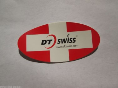 """ONE - 3"""" DT SWISS OVAL  Bike Mountain Bicycle Ride STICKER DECAL (RBRA)"""