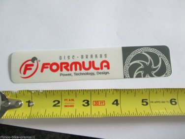 -Authentic- FORMULA DISC Ride Frame Bike Ride Mountain Bicycle DECAL STICKER RBR