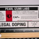 """5"""" PEARL IZUMI Legal DOPING Bicycle Sticker (Mountain Road Frame Bike Decal) rbz"""