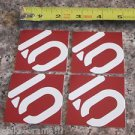 FOUR - 5/10 Five Ten RED   Bike Bicycle Mountain -  STICKER DECAL (A13)