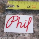 -ONE- PHIL Wood (RED)    Bike Bicycle Road Tri Mountain -  STICKER DECAL (A13)