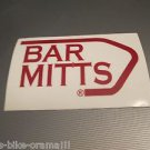 "3"" BAR MITTS     Bike Bicycle Mountain -  STICKER DECAL (A13)"