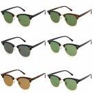 Sunglasses G15 Glass Lens Eyewear Half Frame Glasses Aviator Frames Men Women