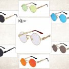 Steampunk Gothic Sunglasses Round Goth Men Women Metal Wrap Eyeglasses Shades