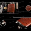Flask Hip Stainless Steel Jack Daniels 6oz Flagon Whiskey Liquor Wine Rum Gift