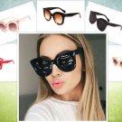 Vintage Cat Eye Women Sunglasses Brand Design Kim Kardashian Transparent Frame